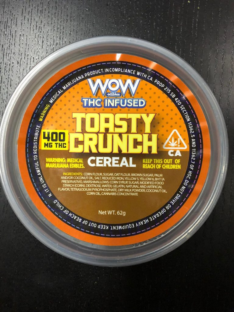 Toasty Crunch Infused Cereal By Wow Edibles 400mg ⋆ Kush Rush